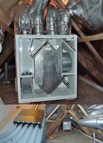 Chauffage lectricit vmc po les bois et pellets for Echangeur air air maison