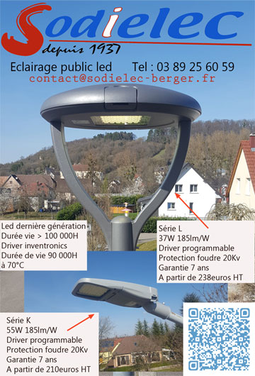 Eclairage public led